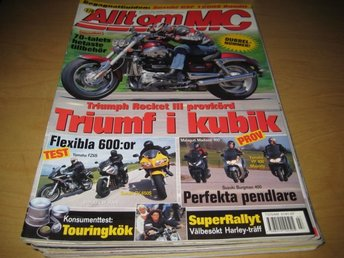 ALLT OM MC NR 7-8 2004    TRIUMPH ROCKET III , MALAGUTI MADISON 400, M.M