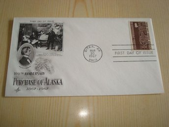 Purschase of Alaska 100th Anniversary 1967 USA förstadagsbrev