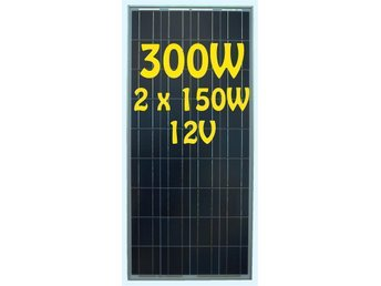 Solpanel Solcell Solfångare 300W *NY A Grade Monocrystalline