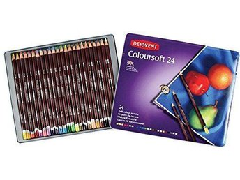 Derwent Coloursoft .Metalletui om 24 st.
