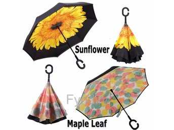 Inverterat Paraply Mkt Praktiskt Sunflower