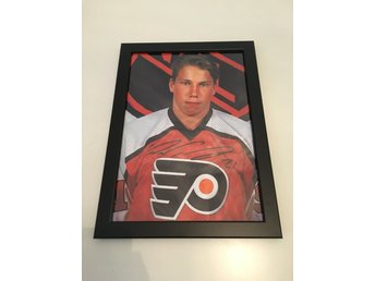Peter Forsberg Signerat Foto Inramat Flyers Rookie NHL auto