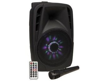 "HELT NYTT Mobilt ljudsystem HOLLYWOOD ""MB-8 LED"" 300W, SD / USB, Bluetooth,"