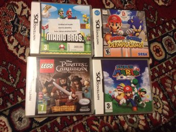 Super Mario Bros, Lego pirates, Super Mario 64, mario & sonic