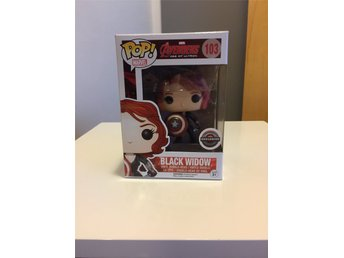 Funko Marvel Pop Avengers Age of Ultron Gamestop Black Widow Bobble head figurer