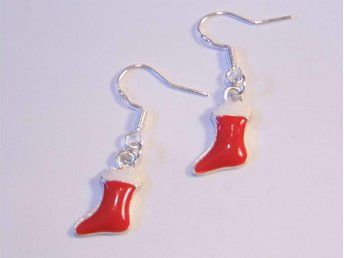 Jul strumpa örhängen / Christmas stocking earrings
