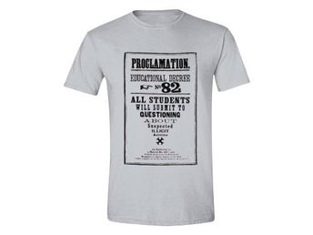 Harry Potter T-shirt Proclamation 82 Grå L