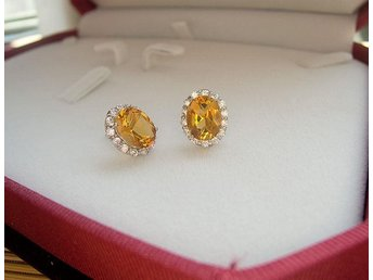 Citrine earrings sterling 925 silver,sterling silver jewelry, from Sapphire min