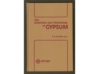 The Chemistry and Technology of Gypsum.