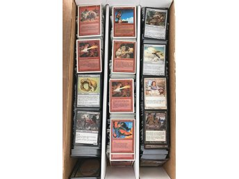 Magic the Gathering låda med 3000 commonkort - massor av dubbletter + lite foil