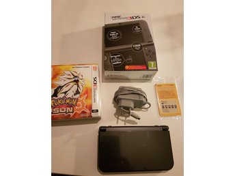 New NINTENDO 3DS XL Metallic Black - POKEMON Sun - Fan Edition