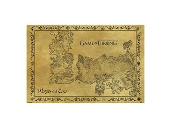 Game Of Thrones Affisch Antique Map A152