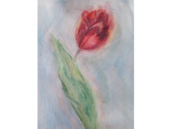 A Red Tulip painting by Chriistine
