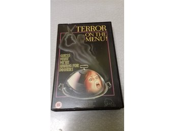 TERROR ON THE MENU. COUGAR VIDEO VHS. LÄS BESKRIVNINGEN!