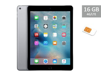 Apple iPad Air 16GB Wi-Fi + 4G, SIM, svart, black, RIMLIGT SKICK