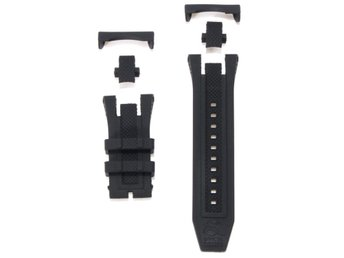 Replaceable Black Silicone Rubber Watch Band For Invicta ...