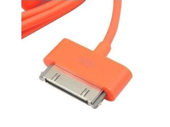 USB Laddnings och data kabel för iPhone/iPod/iPad Orange
