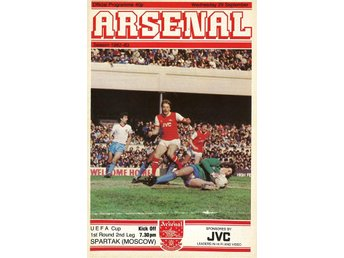 Program: Arsenal - Spartak Moscow (UEFA cup - 29.9.1982)