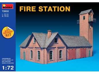 Miniart 1/72 Fire Station (Multi Coloured Kit)