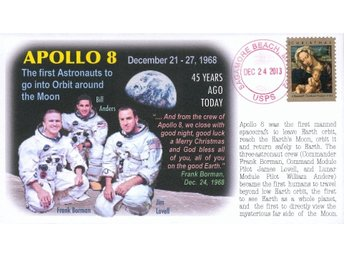 45th Anniversary Apollo 8 Moon Mission Event Cover NASA
