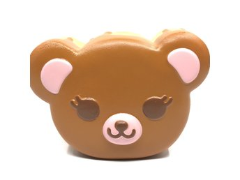 Original ibloom tea time bear squishy brown colour soft slow rising toys scent