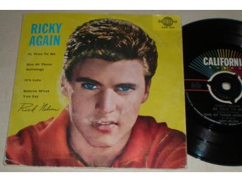 Ricky Nelson EP/PS Be true to me 1959