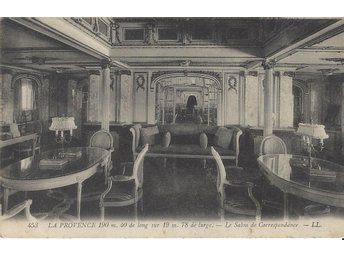 "French Liner "" LA PROVENCE "" The correspondence Room"