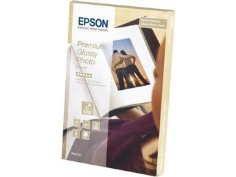 Epson Premium Glossy Photo Paper 10x15cm, 255g/m², 40 Sheets
