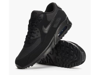 Nike Air Max 90 triple black, strl 42,5