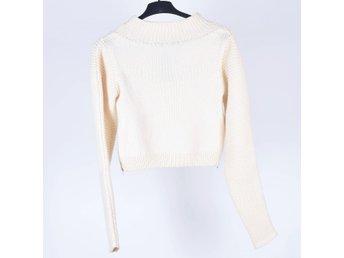 Stickad gräddvit tröja från Dagmar, strl S