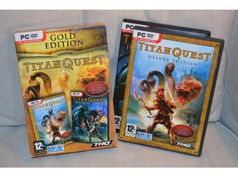 Titan Quest Gold Edition (Deluxe+Immortal Throne) Komplett (PC) Nyskick