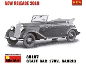 Miniart 1/35 German Staff Car 170V Cabrio