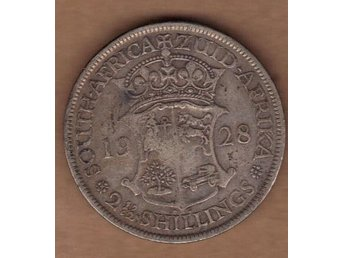 South-Africa 2.5 Shillings 1928 Stort Silvermynt