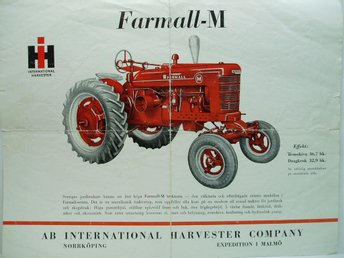 Ä.broschyr traktor IH..International Harvester Farmall M