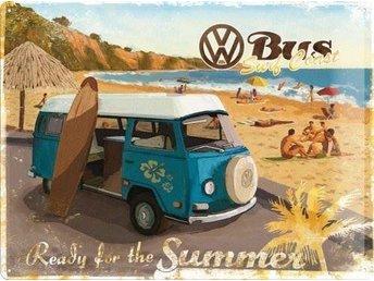 """VW Volkswagen Plåtskylt """"Ready for the summer"""" 30 x 40 cm - Växjö - VW Volkswagen Plåtskylt """"Ready for the summer"""" 30 x 40 cm - Växjö"""