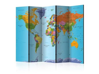Rumsavdelare - Colourful Geography Room Dividers 225x172