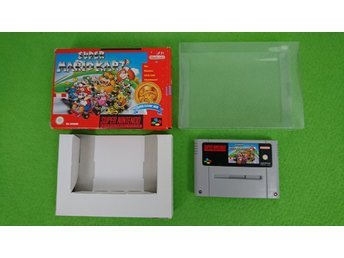 Super Mario Kart Med Box Super Nintendo Snes