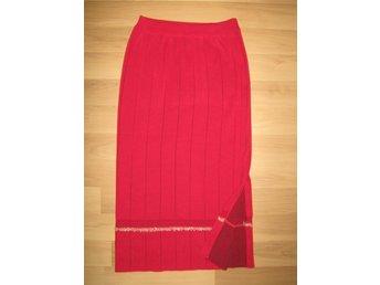 lång stickad kjol