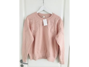 Ny!Super snygg collegetröja H&M pastell nude Stl.M
