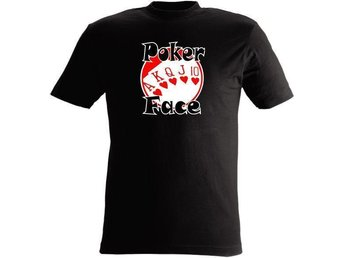 T-SHIRT Poker Face nr 62  Svart   Large