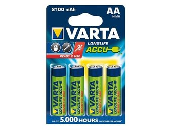 Varta Reachargable Battery AA 2100mAh 4 Blister ON1330