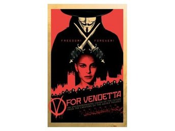 V For Vendetta Affisch Red A508