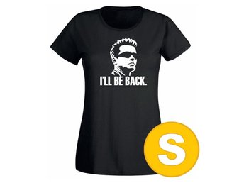 T-shirt I'll Be Back Svart Dam tshirt S