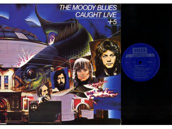 THE MOODY BLUES - CAUGHT LIVE + 5 - GF - 2-LP