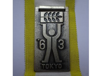 Pre-Olympics 1963 Tokyo International Sports Week Badge Press? (2)