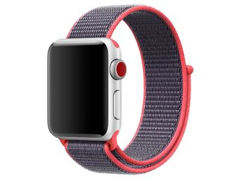 Nylon Loop 42/44mm Apple Watch Armband - (MIDNIGHT PINK)