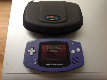 GAMEBOY ADVANCE MED POKÉMON RUBY VERSION FINT SKICK!!