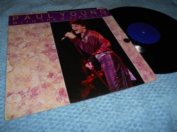 Paul Young With Q-Tips LIVE (LP) NM/VG+
