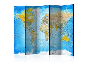 Rumsavdelare - World Classic Map  Room Dividers 225x172