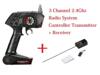 3 Channel 2.4Ghz Radio System Controller Transmitter + Receiver for RC Car Boat